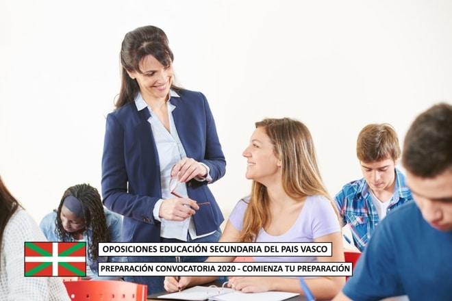Oposiciones Educación Secundaria País Vasco